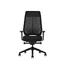Interstuhl Bürostuhl Joyceis3 JC216, mit Armlehnen, Synchronmechanik, Flachsitz, Netzrücken, schwarz/schwarz