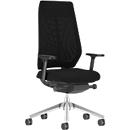 Interstuhl Bürostuhl JoyceIS3, Synchronmechanik, Armlehnen, Netzrücken, Flachsitz, schwarz/schwarz