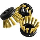 Inzetborstel voor rubberen ringmat, geel