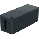 Kabelbox CAVOLINE® BOX, Kabelauslassschlitze, 5-er Steckdosenleiste, flammhemmender Kunststoff, graphit