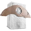 Kärcher Filtertüten, für Nass-/Trockensauger NT 22/1 AP L & NT 22/1 AP TE L, Staubklasse L, 5 Stück, Vliesstoff, weiß