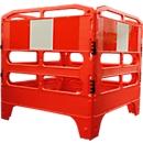 Kanalabsperrung, recycl. Kunststoff, orange, m. Reflektor-Streifen, 4 Elemente à B 1000 x H 1000 mm