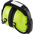 Kapselgehörschutz uvex K2, Memory-Schaum, SNR 31 dB, EN 352-1, faltbares & gepolstertes Kopfband, neonlime