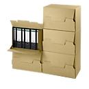 Kartonnen doos voor oude documenten
