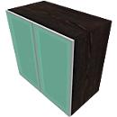 Kast met glazen deuren SOLUS PLAY, 2 ordnerhoogten, zonder handgreep, B 800 x D 440 x H 748 mm, moeraseik