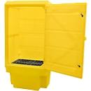 Kast voor gevaarlijke stoffen PSC3 opslag vat 200 l, 1 roosterbak, lekbak 225 l, afsluitbaar, PE, geel