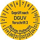 Keuringsvignet, gekeurd volgens DGUV voorschrift 3 (2019-2024), 100 stuks