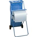 Kimberly-Clark® Professional mobiel systeem met poetsdoekdispenser en afvalzakhouder, blauw