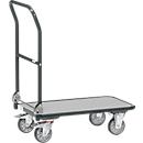 Klappwagen, Stahl/Holz, bis 250 kg, 900 x 600 mm, TPE-Bereifung, anthrazitgrau