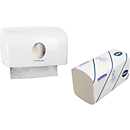 KLEENEX® ULTRA 1 VE handdoeken + GRATIS handdoekdispenser AQUARIUS