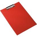 Klembord, A4, kunststof, met ophangoog, rood