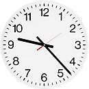 Klok voor binnen met cijferwijzerplaat, Ø 400 mm, Radiografische klok, cijferwijzerplaat