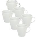 Koffiemok Solea, effen, wit, Porselein, 6 st.