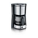 Koffiezetapparaat KA 4822, 1000 W, voor max. 10 kopjes, automatische uitschakeling, incl. glazen kan, zwart-zilver