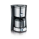 Koffiezetapparaat TypeSwitch KA 4845, 1000 W, voor maximaal 8 kopjes, 2 zetmodi, roestvrijstalen blikje, zwart-zilver