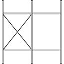 Komplettregal MBR 3000, Anbaufeld, 3 schräge Fachebene, 1536 x 400 x 1004 mm