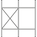 Komplettregal MBR 3000, Anbaufeld, 5 schräge Fachebene, 2278 x 400 x 1004 mm