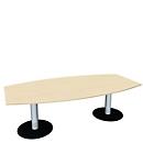 Konferenztisch, B 2400 mm, Ahorn