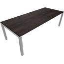 Konferenztisch SOLUS PLAY, 4-Fuß, höhenverstellbar, B 2400 x T 1000 mm, Mooreiche