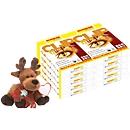 Kopierpapier Schäfer Shop CLIP OutPut, DIN A4, 80 g/m², reinweiß, 1 Karton = 10 x 500 Blatt + Elch-Plüschtier