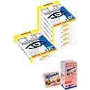 Kopierpapier Schäfer Shop Paper@Print, DIN A4, 80 g/m², weiß, 15 Pakete à 500 Blatt + Neapolitaner-Spenderbox 12 x 75 g