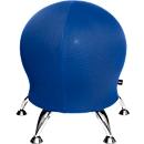 Kruk Sitness 5, met ingebouwde gymnastiekbal, belastbaar tot 110 kg, blauw