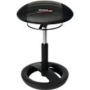 Kruk Sitness RS Bob, beweeglijk zitten, in hoogte verstelbaar, ergonomisch, zwart/zwart