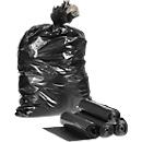 Kunststof afvalzakken, zwart, 250 stuks