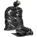 Kunststoff-Abfallsäcke, schwarz, 250 Stück