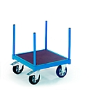 Langmateriaal-rolkar, 620 x 620 mm, draagvermogen 1000 kg