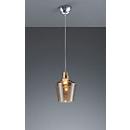LED Pendelleuchte CALAIS, E27 Fassung, inkl. 8 W LED-Leuchtmittel, Abhängehöhe bis 1300 mm, Glas