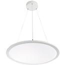 LED-Pendelleuchte FRISCH-Licht, 60W, 6700 lm, Lichtfarbe neutralweiß, PMMA/Aluminium, Ø600 x H 14 mm