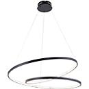 LED-Pendelleuchte ROMAN, schwarz, Lichtfarbe Warmweiß, 40W, 4500 lm, B720xT720 mm