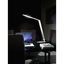 LED-Tischleuchte WASP, dimmbar 5-fach, 900 Lumen, 2700-5000 Kelvin, USB-Ladebuchse, Alu gebürstet