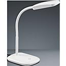 Ledbureaulamp Boa, met touchdimmer, in hoogte verstelbaar, wit