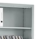 Legborden MS iCONOMY, inclusief houder, B 800 mm, 2 stuks, blank aluminium