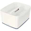Leitz Ablagebox MyBox, DIN A4, für Utensilien, weiß/grau