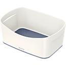 Leitz Ablageschale MyBox, DIN A5, aus Kunststoff, für Utensilien, weiß/grau