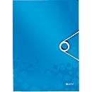 LEITZ® Eckspannmappe WOW, DIN A4, Gummizugverschluss, PP, blau