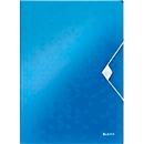 LEITZ® elastomap WOW, A4, elastieksluiting, PP, blauw