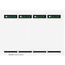 LEITZ® insteeketiketten voor 180°-kwaliteitsordner, rugbreedte 80 mm, bedrukbaar, 100 stuks
