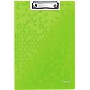 LEITZ® Klemmmappe Active Wow, DIN A4, PP, mit Klemmbügel, grün