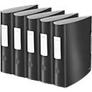 LEITZ® Ordner Active Style, DIN A4, Rückenbreite 82 mm, 5 Stück, satin schwarz