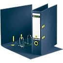 LEITZ® ordner recycle, A4, 100% recycleerbaar, rugbreedte 80 mm, donkerblauw, 10 stuks