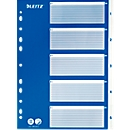 LEITZ® PP-Register mit blauem Deckblatt, Zahlen 1-5