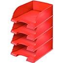 LEITZ® sorteerbak Plus Jumbo 5233, A4, 4 st., rood