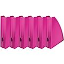 LEITZ® tijdschriftenhouder WOW 5277, breedte 75 mm, roze, 6 st.