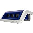 LEITZ® USB Style Power-Ladegerät, mit 3 USB-Anschlüssen, titan blau