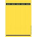 LEITZ® zelfklevende etiketten voor ordners, 285 mm lengte, rugbreedte 50 mm, pak van 125 stuks, geel