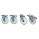 Lenk- und Bockrollen für Kippbehälter mit Runddeckel RD
